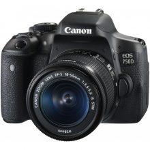 دوربین عکاسی کانن CANON EOS 750D Kit EF-S 18-55mm F/3.5-5.6 IS STM- دست دوم