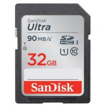 کارت حافظه سنديسک Sandisk 32GB Ultra SDHC UHS-I 90MB/s Memory Card